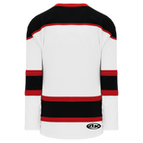 Athletic Knit (AK) H7500-415 White/Black/Red Select Hockey Jersey