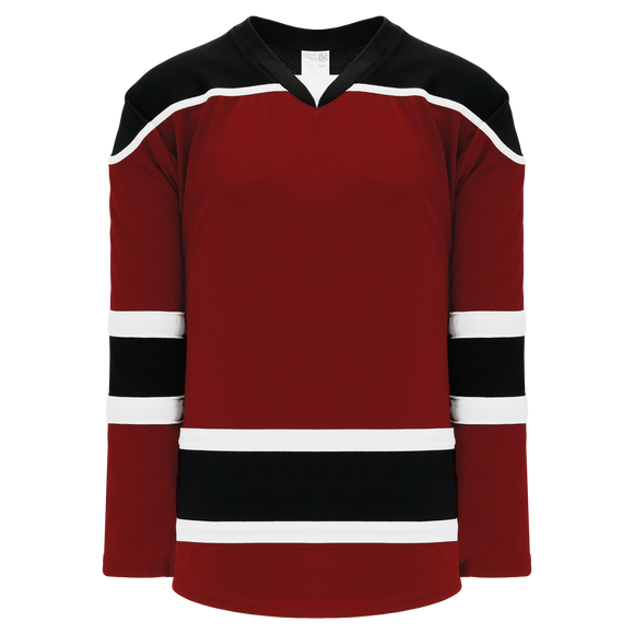 Athletic Knit (AK) H7500A-426 Adult AV Red/Black/White Select Hockey Jersey