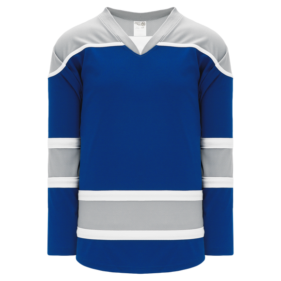 Athletic Knit (AK) H7500-446 Royal Blue/Grey Select Hockey Jersey