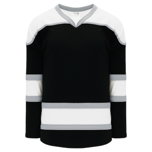Athletic Knit (AK) H7500A-918 Adult Black/White/Grey Select Hockey Jersey