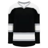 Athletic Knit (AK) H7500-918 Black/White/Grey Select Hockey Jersey