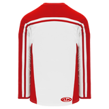 Athletic Knit (AK) H7600-209 White/Red Select Hockey Jersey