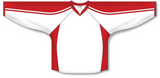 Athletic Knit (AK) H7600 White/Red Select Hockey Jersey - PSH Sports