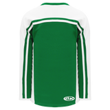 Athletic Knit (AK) H7600A-210 Adult Kelly Green/White Select Hockey Jersey