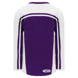 Athletic Knit (AK) H7600A-220 Adult Purple/White Select Hockey Jersey