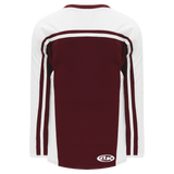 Athletic Knit (AK) H7600-233 Maroon/White Select Hockey Jersey
