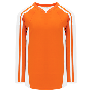 Athletic Knit (AK) H7600A-238 Adult Orange/White Select Hockey Jersey