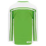 Athletic Knit (AK) H7600A-271 Adult Lime Green/White Select Hockey Jersey