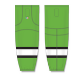 Athletic Knit (AK) HS2100 Lime Green/Black/White Mesh Cut & Sew Ice Hockey Socks - PSH Sports