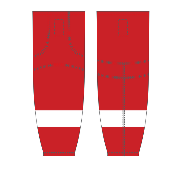 Athletic Knit (AK) HS2100 Detroit Red Wings Red Mesh Cut & Sew Ice Hockey Socks - PSH Sports