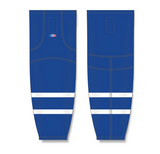Athletic Knit (AK) HS2100  Old Toronto Maple Leafs Royal Blue Mesh Cut & Sew Ice Hockey Socks - PSH Sports