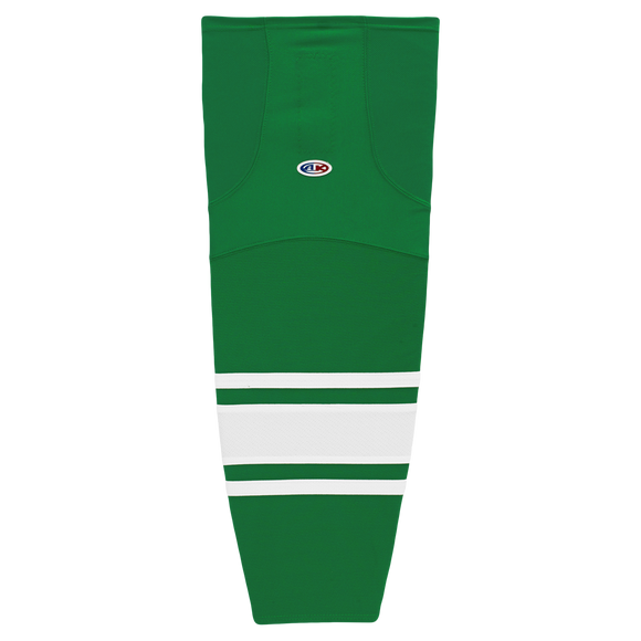 Athletic Knit (AK) HS2100-210 Toronto St. Pats Kelly Green/White Mesh Cut & Sew Ice Hockey Socks