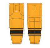 Athletic Knit (AK) HS2100 Gold/Black Mesh Cut & Sew Ice Hockey Socks - PSH Sports