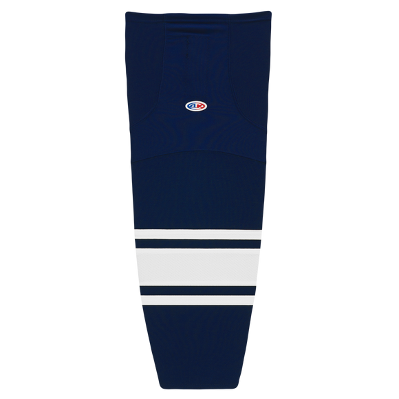 Athletic Knit (AK) HS2100-216 Navy/White Mesh Cut & Sew Ice Hockey Socks