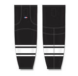 Athletic Knit (AK) HS2100 Black/White Mesh Cut & Sew Ice Hockey Socks - PSH Sports