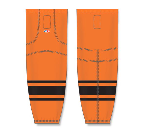 Athletic Knit (AK) HS2100 Orange/Black Mesh Cut & Sew Ice Hockey Socks - PSH Sports