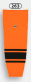 Athletic Knit (AK) HS2100-263 Orange/Black Mesh Cut & Sew Ice Hockey Socks
