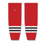 Athletic Knit (AK) HS2100 Chicago Blackhawks Red Mesh Cut & Sew Ice Hockey Socks - PSH Sports