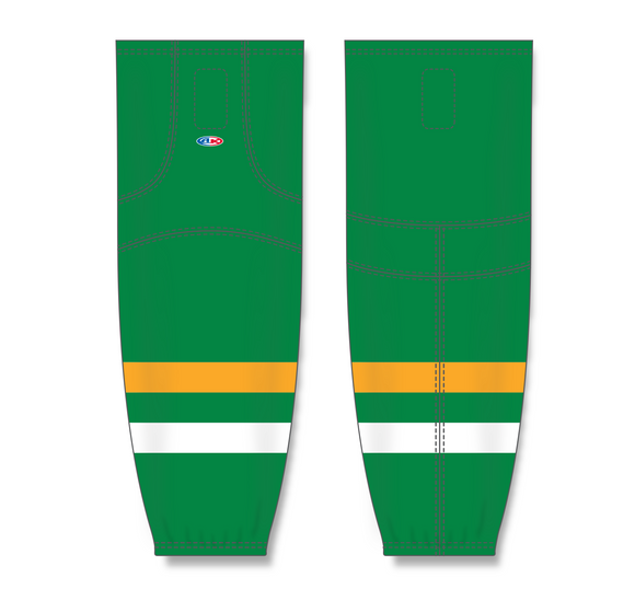 Athletic Knit (AK) HS2100 Old Minnesota North Stars Kelly Green Mesh Cut & Sew Ice Hockey Socks - PSH Sports