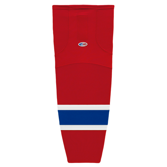 Athletic Knit (AK) HS2100-308 Montreal Canadiens Red Mesh Cut & Sew Ice Hockey Socks