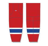 Athletic Knit (AK) HS2100 Montreal Canadiens Red Mesh Cut & Sew Ice Hockey Socks - PSH Sports