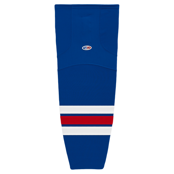 Athletic Knit (AK) HS2100-312 New York Rangers Royal Blue Mesh Cut & Sew Ice Hockey Socks