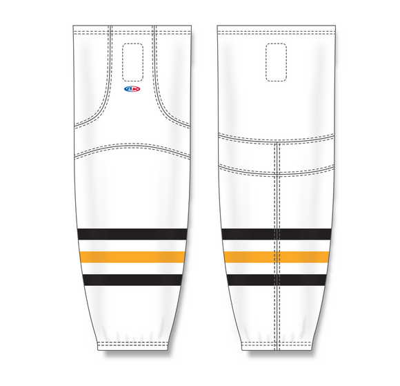 Athletic Knit (AK) HS2100 Pittsburgh Penguins White Mesh Cut & Sew Ice Hockey Socks - PSH Sports