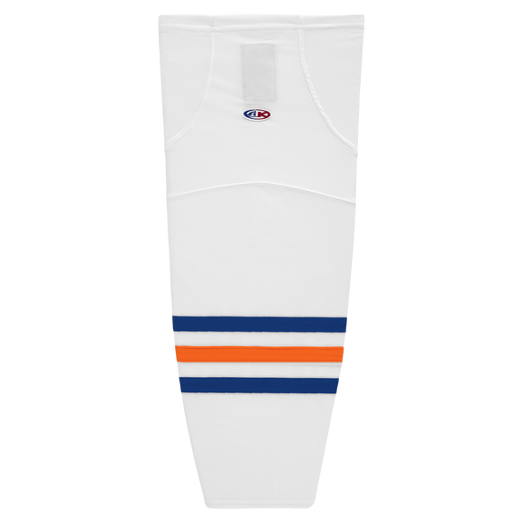 Athletic Knit (AK) HS2100-321 Edmonton Oilers White Mesh Cut & Sew Ice Hockey Socks