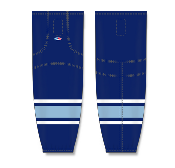 Athletic Knit (AK) HS2100 University of Maine Black Bears Navy Mesh Cut & Sew Ice Hockey Socks - PSH Sports
