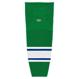 Athletic Knit (AK) HS2100-347 Kelly Green/Royal Blue/White Mesh Cut & Sew Ice Hockey Socks