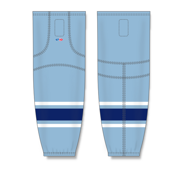 Athletic Knit (AK) HS2100 New University of Maine Black Bears Third Powder Blue Mesh Cut & Sew Ice Hockey Socks - PSH Sports