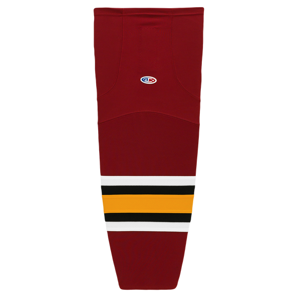 Athletic Knit (AK) HS2100-356 Chicago Wolves Cardinal Red Mesh Cut & Sew Ice Hockey Socks