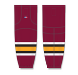 Athletic Knit (AK) HS2100 Chicago Wolves Cardinal Red Mesh Cut & Sew Ice Hockey Socks - PSH Sports