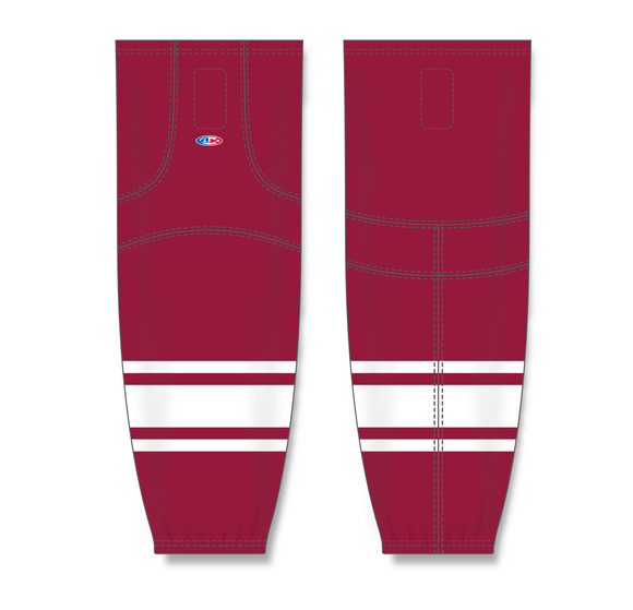 Athletic Knit (AK) HS2100 New Phoenix Coyotes AV Red Mesh Cut & Sew Ice Hockey Socks - PSH Sports