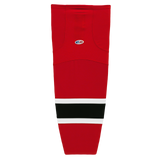 Athletic Knit (AK) HS2100-366 New Jersey Devils Red Mesh Cut & Sew Ice Hockey Socks