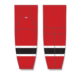 Athletic Knit (AK) HS2100 New Jersey Devils Red Mesh Cut & Sew Ice Hockey Socks - PSH Sports
