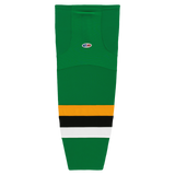 Athletic Knit (AK) HS2100-406  Minnesota North Stars Kelly Green with Black Stripe Mesh Cut & Sew Ice Hockey Socks