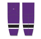 Athletic Knit (AK) HS2100 Purple/White/Black Mesh Cut & Sew Ice Hockey Socks - PSH Sports
