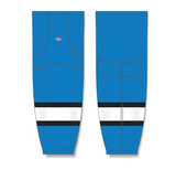 Athletic Knit (AK) HS2100 Pro Blue/Black/White Mesh Cut & Sew Ice Hockey Socks - PSH Sports