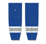 Athletic Knit (AK) HS2100 Royal Blue/Grey/White Mesh Cut & Sew Ice Hockey Socks - PSH Sports