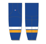 Athletic Knit (AK) HS2100 2014 St. Louis Blues Royal Blue Mesh Cut & Sew Ice Hockey Socks - PSH Sports