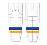 Athletic Knit (AK) HS2100 2014 St. Louis Blues White Mesh Cut & Sew Ice Hockey Socks - PSH Sports