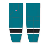 Athletic Knit (AK) HS2100 Pacific Teal/White/Black Mesh Cut & Sew Ice Hockey Socks - PSH Sports