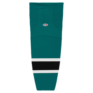Athletic Knit (AK) HS2100-457 Pacific Teal/White/Black Mesh Cut & Sew Ice Hockey Socks