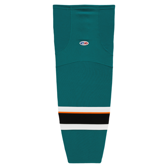 Athletic Knit (AK) HS2100-466 2013 San Jose Sharks Pacific Teal Mesh Cut & Sew Ice Hockey Socks