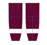 Athletic Knit (AK) HS2100 Peterborough Petes Maroon Mesh Cut & Sew Ice Hockey Socks - PSH Sports
