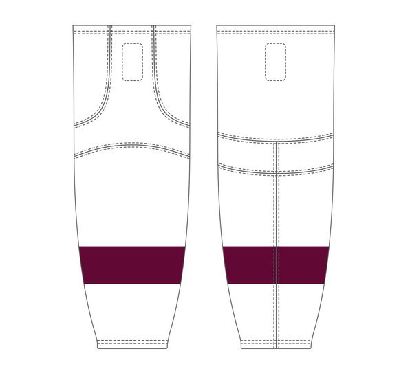 Athletic Knit (AK) HS2100 Peterborough Petes White Mesh Cut & Sew Ice Hockey Socks - PSH Sports