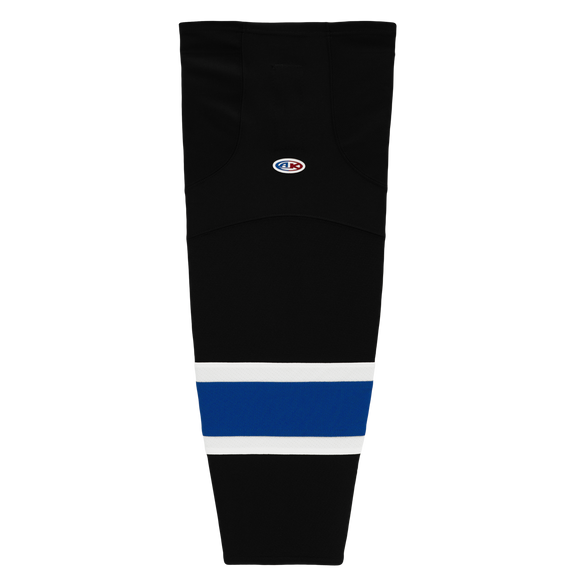 Athletic Knit (AK) HS2100 2014 Tampa Bay Lightning Third Black Mesh Cut & Sew Ice Hockey Socks