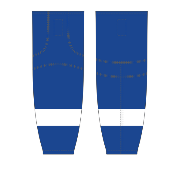 Athletic Knit (AK) HS2100 2011 Tampa Bay Lightning Royal Blue Mesh Cut & Sew Ice Hockey Socks - PSH Sports