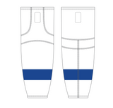Athletic Knit (AK) HS2100 2011 Tampa Bay Lightning White Mesh Cut & Sew Ice Hockey Socks - PSH Sports